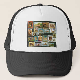 Lions on stamps trucker hat