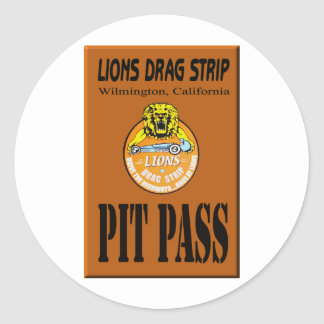 Lions Pit Pass Classic Round Sticker