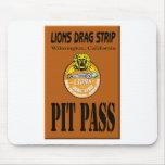 Lions Pit Pass Mouse Pads