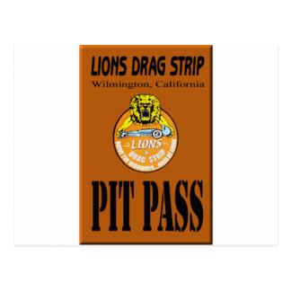Lions Pit Pass Postcard