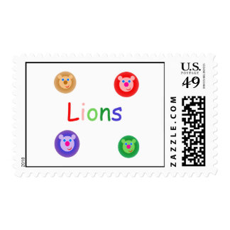 lions postage stamp