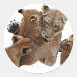 Lions Pride Round Stickers