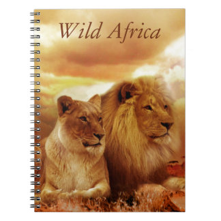 Lions relaxing in Africa Notebook