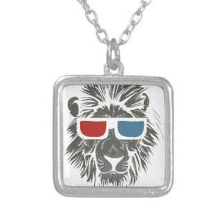 LIONS SILVER PLATED NECKLACE
