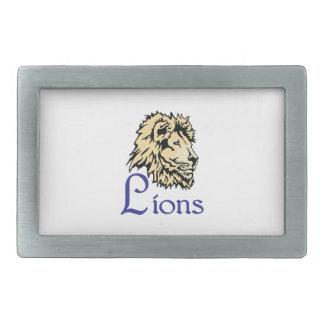 LIONS SPORTS TEAM BELT BUCKLES