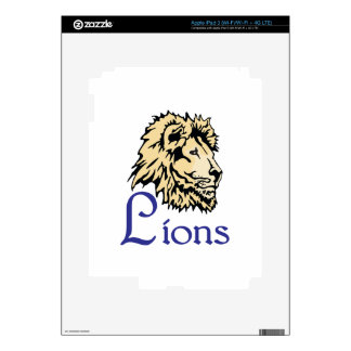 LIONS SPORTS TEAM DECAL FOR iPad 3