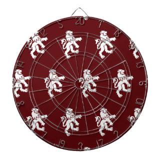 Lions Symbol dark red white Dart Board