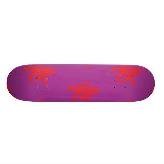 Lions Symbol Magenta Red Custom Skateboard