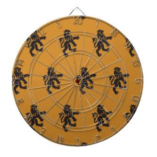 Lions Symbol orange black. Dart Board