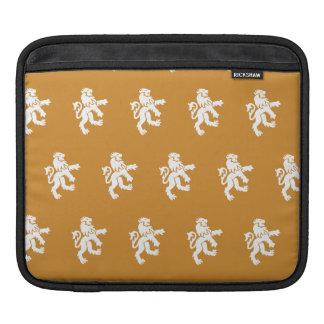 Lions Symbol orange white iPad Sleeve