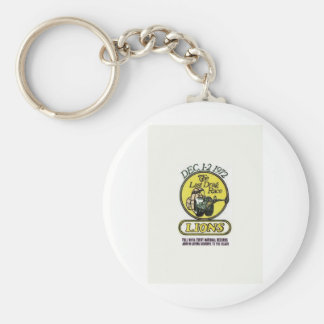 Lions The last race Basic Round Button Keychain