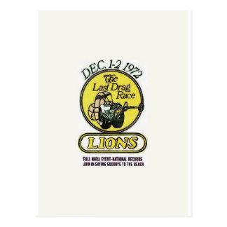 Lions The last race Postcard