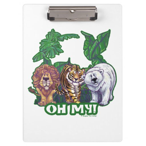 Lions Tiger Bears Oh My Clipboard