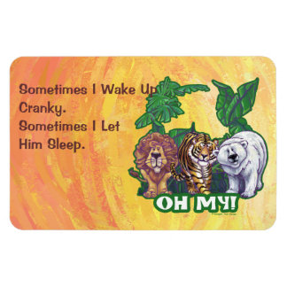 Lions Tiger Bears Oh My Magnet