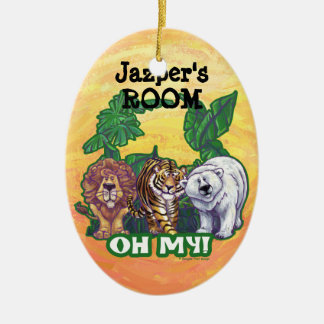 Lions Tiger Bears Oh My Christmas Ornament