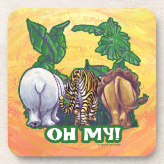 Lions Tiger Bears Oh My Tails Coasters
