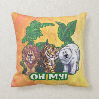 Lions Tiger Bears Oh My Throw Pillow