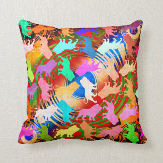 Lions Tropical Soho Bohemian Colors Safari Throw Pillow