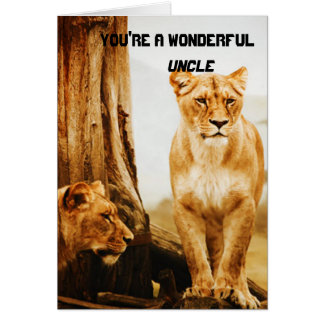 Lions Uncle Greeting Card