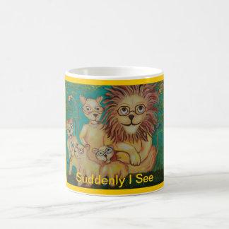Lions Wearing Glasses Magic Mug