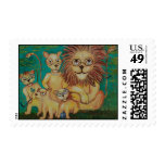Lions Wearing Glasses Stamps