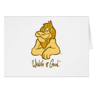 Lion's Wild Smile Card