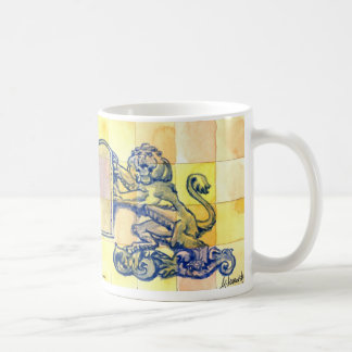 Lions with Ten Commandments Tablets Coffee Mug