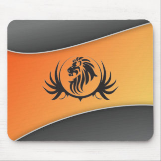 Lionshead On Orange Curved Background Mouse Pad