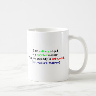 Liouville's Theorem on Stupidity Coffee Mug