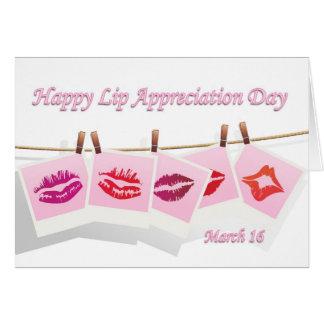 Lip Appreciation Day March 16 Card