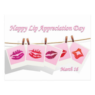 Lip Appreciation Day March 16 Postcard