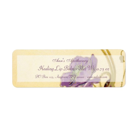 Lip Balm or Skin Products Label