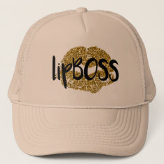 Lip Boss Trucker Hat at Zazzle