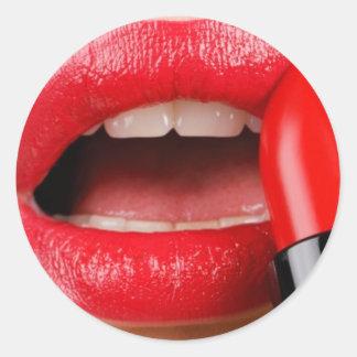 lip classic round sticker