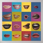 Lip Collage Pop Art Print