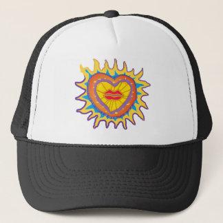 lip heart trucker hat