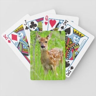 Lip Licking Fawn Bicycle Playing Cards