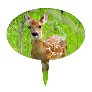 Lip Licking Fawn Cake Topper