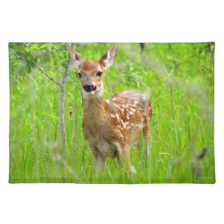 Lip Licking Fawn Cloth Placemat