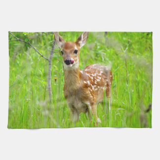 Lip Licking Fawn Hand Towels