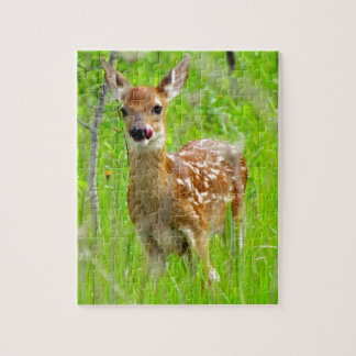 Lip Licking Fawn Jigsaw Puzzle