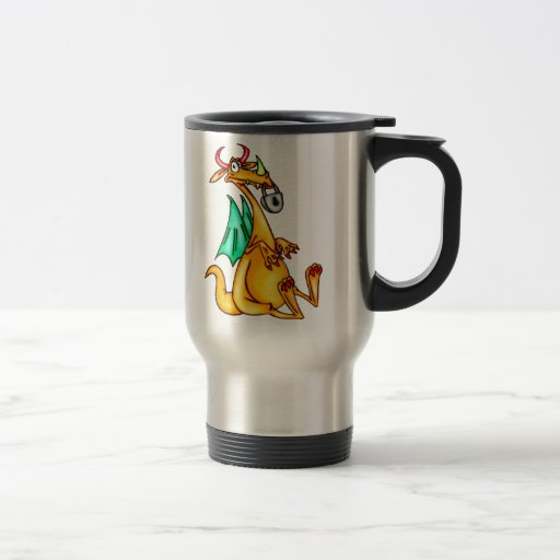 Lip Locked Dragon 15 Oz Stainless Steel Travel Mug