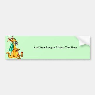 Lip Locked Dragon Bumper Sticker