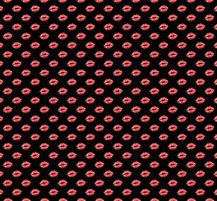 f07a9f8bb79088 Lip Print Leggings Black Red kiss Pants