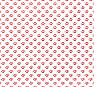 9f6ef929c3ae5f Lip Print Leggings White Red kiss Pants