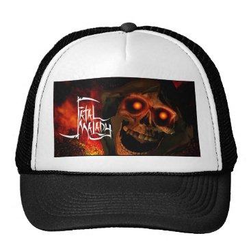 Halloween Themed lip REAPER HEAD trucker hat 1