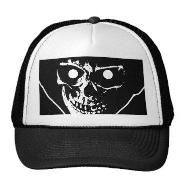 Halloween Themed lip REAPER HEAD trucker hat 2