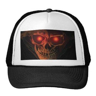 Halloween Themed lip REAPER HEAD trucker hat 3