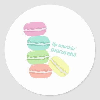 Lip Smackin Macarons Classic Round Sticker