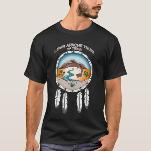 Lipan Apache Tribe of TX Mens Basic Dark T_Shirt